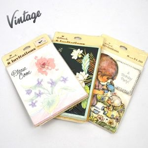 Vintage Hallmark Party Invitations